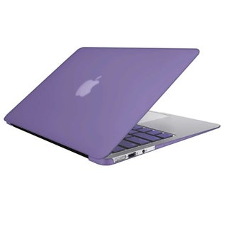 "For Macbook Air 13"" A1466/A1369 Rubberized Hard Shell Matte Case Cover with Keyboard Skin (Option: Purple)"
