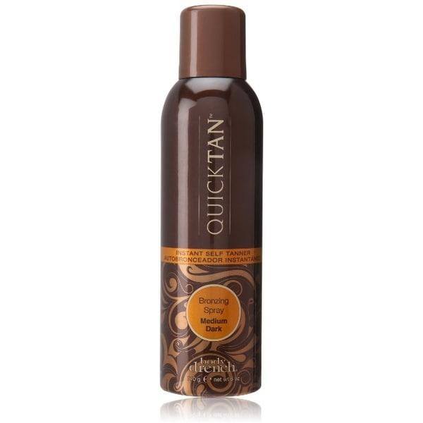 Body Drench Quick Tan Instant Self Tanner Bronzing Spray, Medium/Dark 6 oz