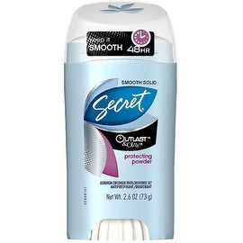 Secret Outlast & Olay Smooth Solid Antiperspirant & Deodorant, Protecting Powder 2.60 oz