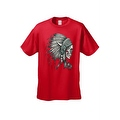 Men's T-Shirt Native Chief Skull Graphic Tee Indian American Feathers Bones - Thumbnail 8