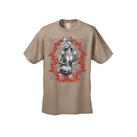 Men's T-Shirt Sexy Cowgirl Marilyn Vintage Hot Western Outlaw Blonde Bombshell