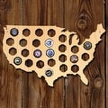 Small USA Beer Cap Map - Thumbnail 0