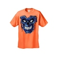 Men's T-Shirt Metallic Robotic Blue Skull Skeleton Wired Terminator Graphic Tee - Thumbnail 5