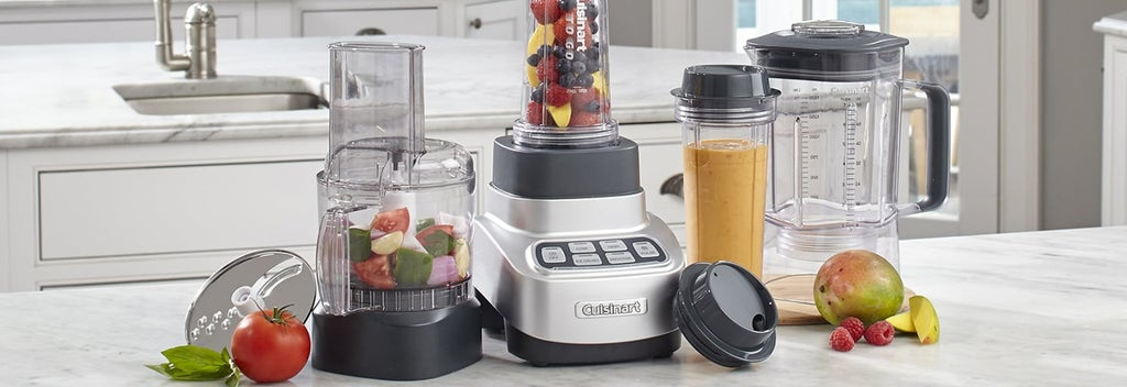 Blenders on a kitchen counter