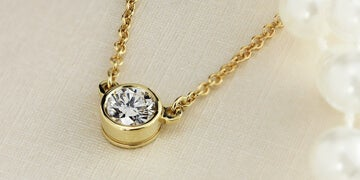 $289.99 Diamond Solitaire Necklace