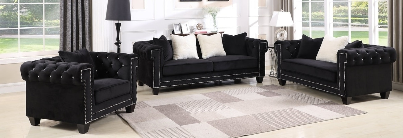 Black Living Room Furniture Sets For Less | Overstock