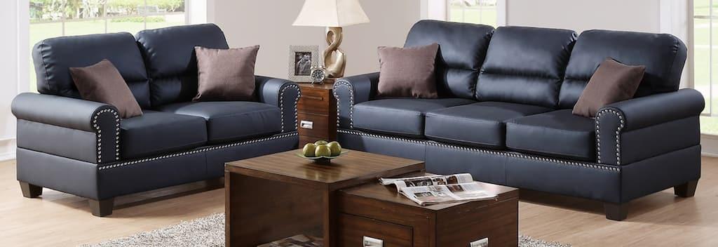 Buy Leather Living Room Furniture Sets Online at Overstock ...