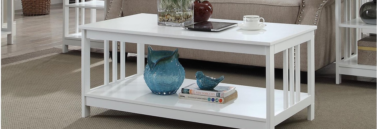 White Coffee Console Sofa End Tables For Less Overstock