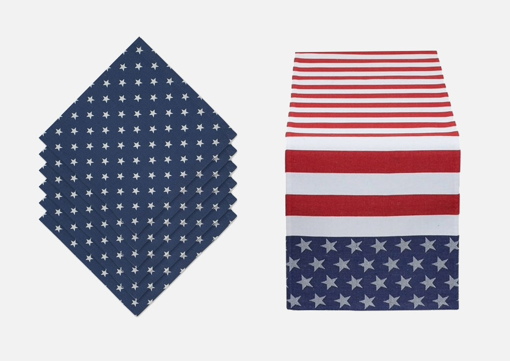 4th of july table linens