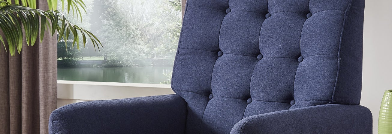 blue chairs for living room. Blue Living  Room Chairs Guide For Less Overstock com