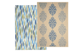 Create an outdoor oasis with Overstock.com's outdoor green & blue area rugs