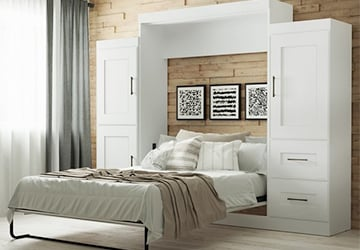 Bed with ample built-in storage