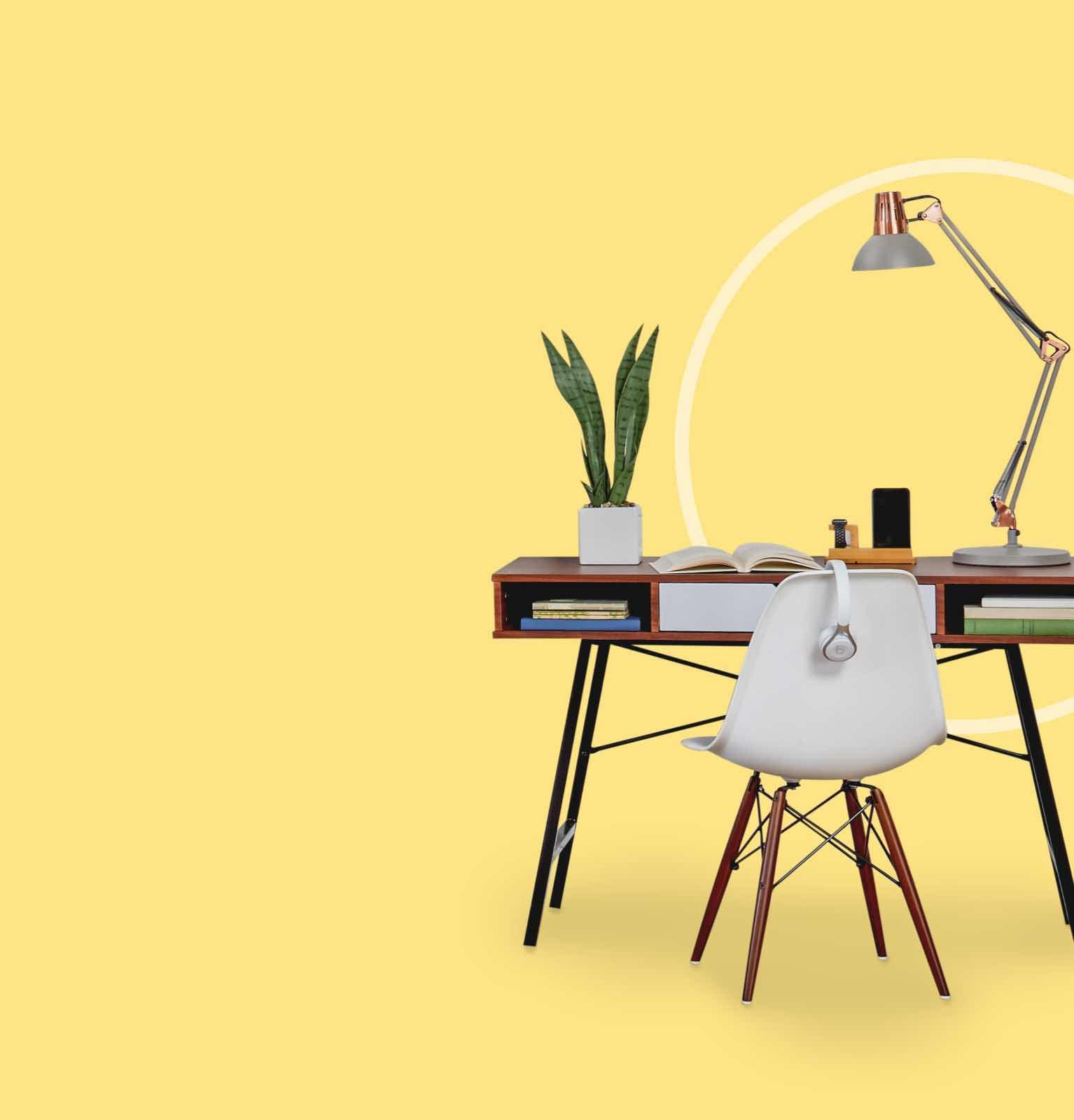 A neat college student desk with dorm room essentials available at low online prices at Overstock