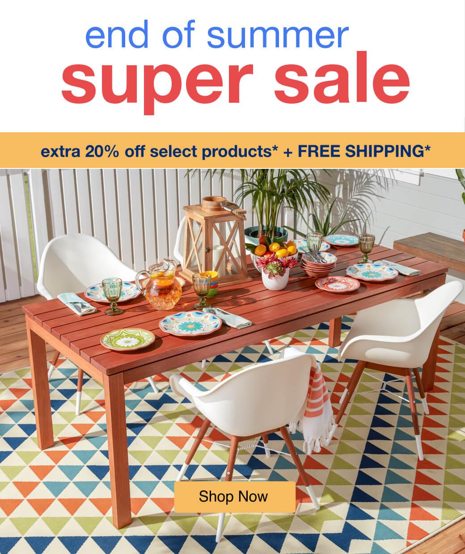 End of Summer Super Sale