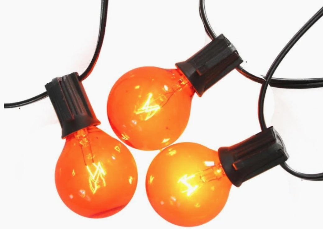 Orange string lights