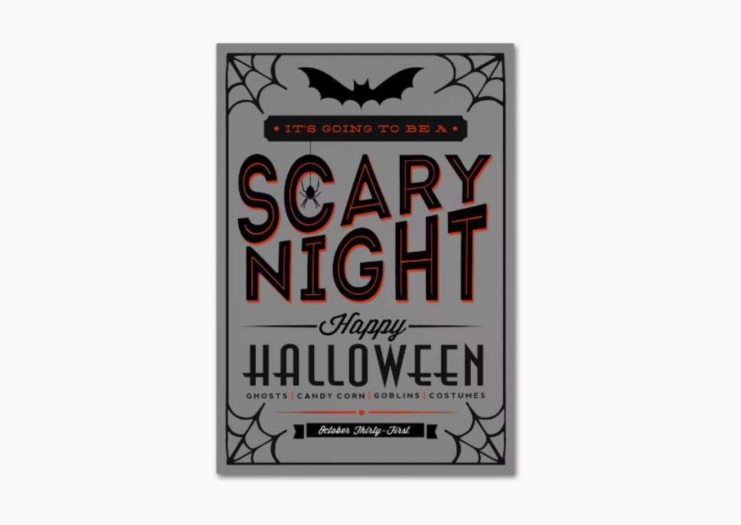Scary night Halloween wall art