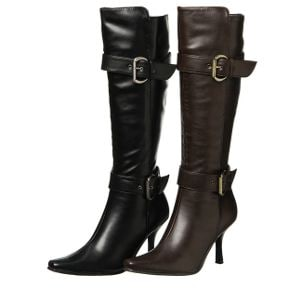 Knee-high leather boots