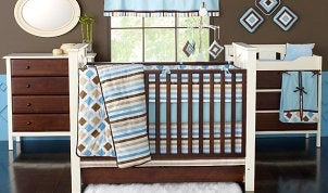 Nicely decorated baby nursery