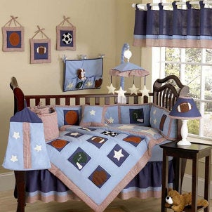 Nursery decorated for a boy