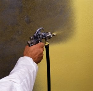 Painting with a paint sprayer
