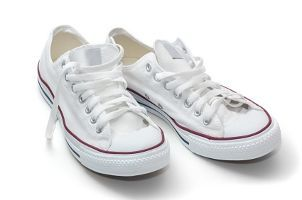 A pair of white shoes