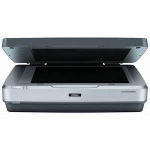 Grey flatbed scanner opening