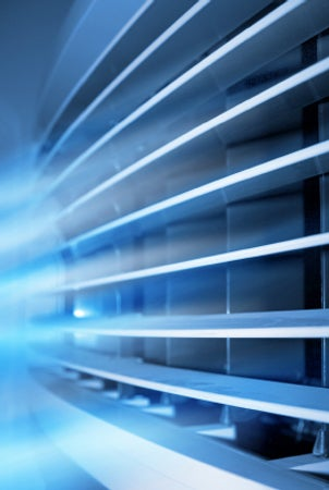 Cold air coming from air conditioner