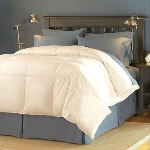 Bed with comfortable bedding