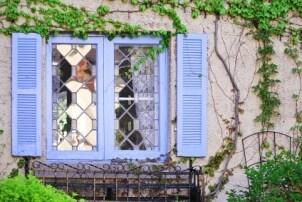 Lavender window shutters
