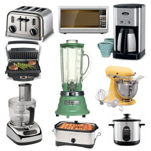 Several kitchen appliances