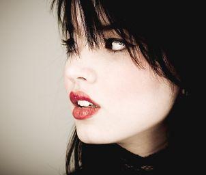 Woman wearing lipstick
