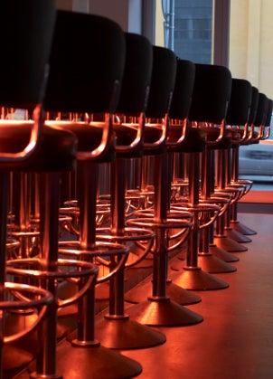 Row of bar stools