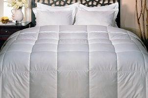 Fluff white down domforter