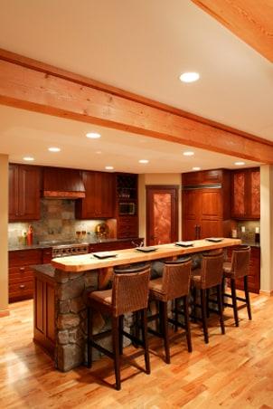 A stylish kitchen bar in a modern kitchen