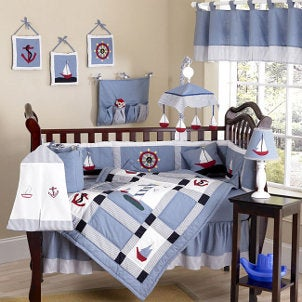 While a blue on blue color scheme is always a popular possibility for a boy s  nursery  you might be interested in more personal and detailed nursery decor. Best Baby Boy Nursery Themes   Overstock com