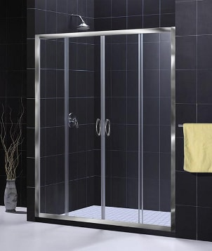 Modern glass shower doors