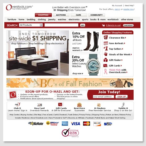 2007 s Homepage. About Us   Overstock com