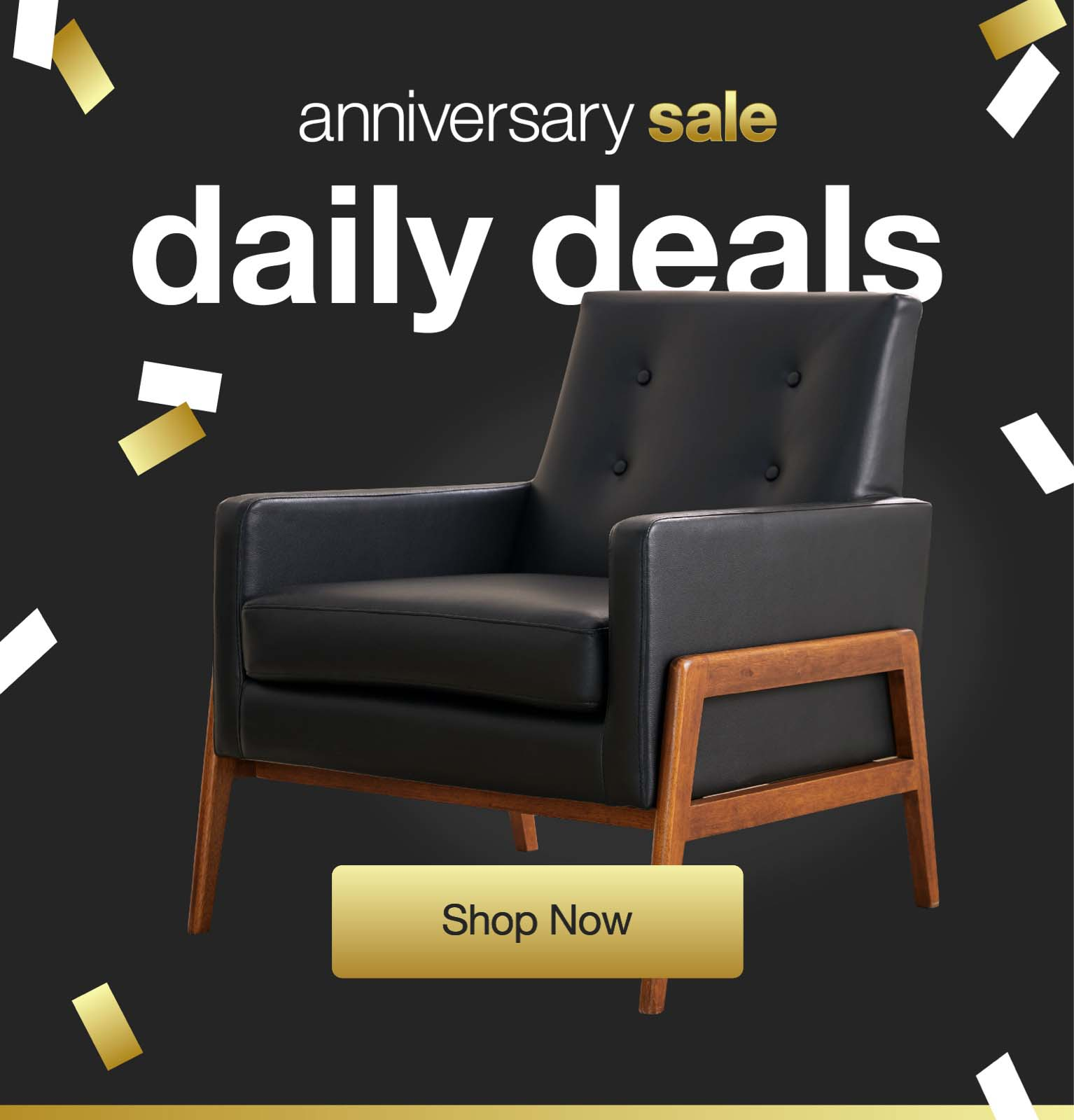 a black leather club chair at overstock anniversary daily deals with 22 new deals daily and free shipping on everything.