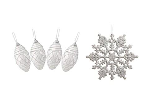 Winter Glam Ornaments