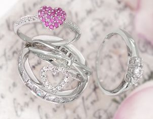 A collection of beautiful cubic zirconia rings