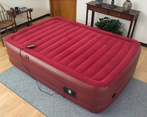 Red air bed