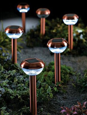 Solar lights providing garden lighting