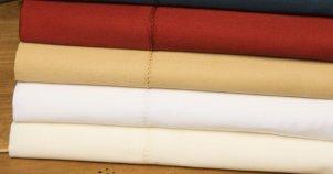 Stack of folded pillow shams