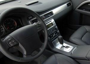 Car interior with a premium car audio system