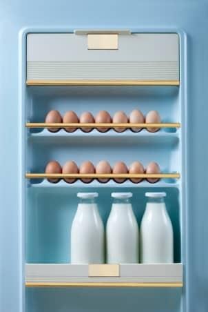 Inside refrigerator door