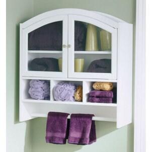 Organized wall-hanging bathroom cabinet