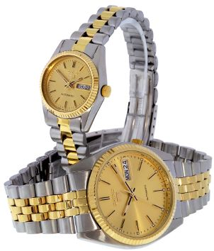 Men's and women's gold and silver Timex watches