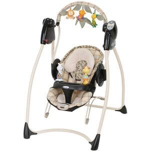 Animal theme baby swing