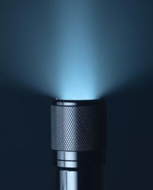 Shining flashlight