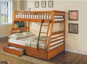 Twin-over-queen bunk bed